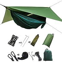 HIKANT Camping Hammock Set:Single Hammock,Mosquito Net,Rainfly Tarp Tent,(Lightweight,Waterproof,Sun-Shade) Hammock Tent…