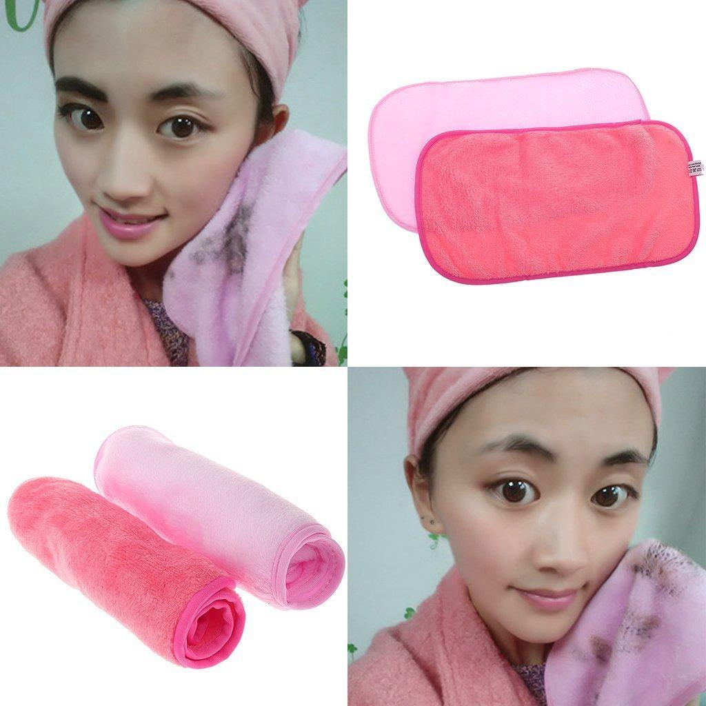 Asciugamano in tessuto rimovibile Asciugamano in tessuto riutilizzabile Rimuovete il trucco immediatamente con acqua pura (Rose Red) 1Pc Newin Star
