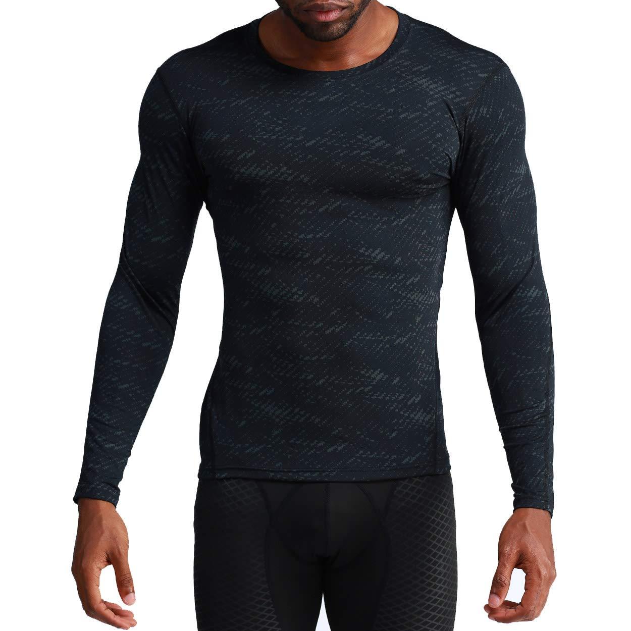 e9b366c0b72 Amazon.com  NEKO SPORTS Mens Long Sleeve T Shirts Cool Dry Compression  Shirt Long Sleeve Workout Shirts for Men  Clothing