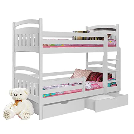 Ye Perfect Choice Daisy Pine Wood Children Bunk Bed With Mattresses