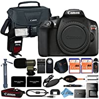 Canon EOS Rebel T6 18MP Digital SLR Camera Retail Packaging 16 Piece Videographer Bundle (Body Only)
