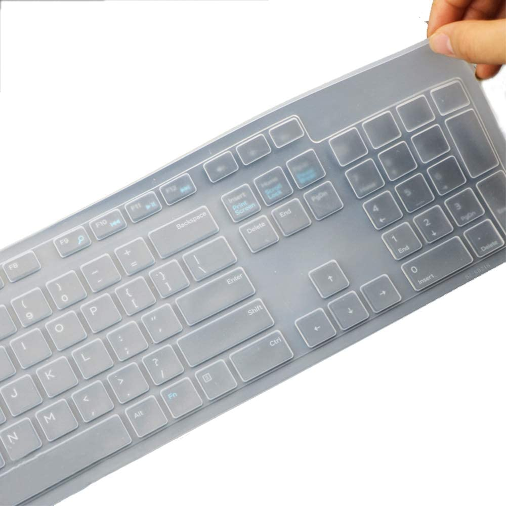 Keyboard Protector Cover Skin for Dell KB216 KM636 Wired Keyboard Clear