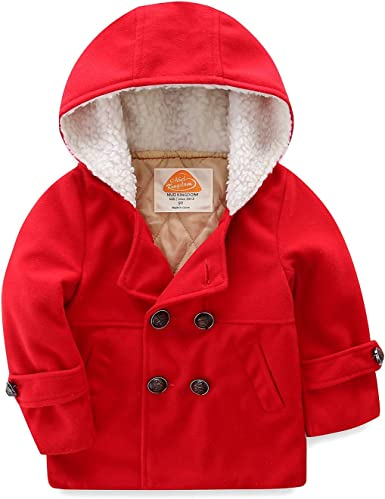 Amazon.com: Mud Kingdom Boys Dress Coats with Hood Faux Wool Overcoat:  Clothing