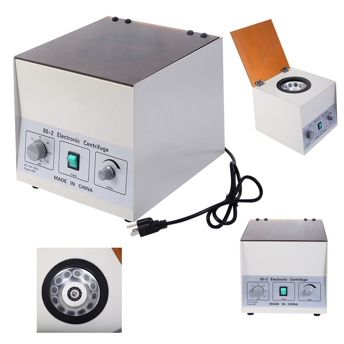 Desktop 80-2 Electric Centrifuge 4000Rpm Laboratory Medical Practice w/ Timer - By Choice Products
