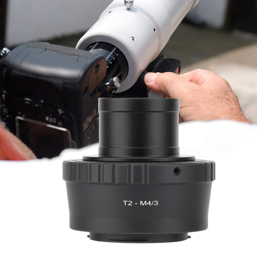 3 Anillo Adaptador de telescopio T2-M4 3 Anillo Adaptador de Montaje en telescopio de Metal de 1.25 Pulgadas para Olympus para c/ámara Panasonic M4