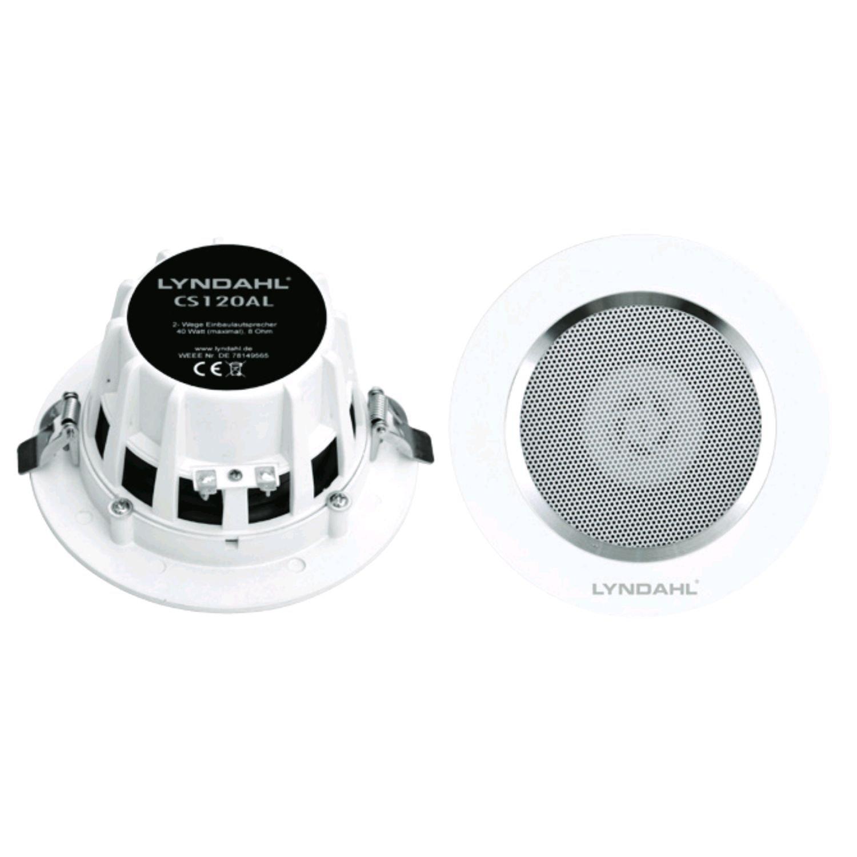 Lyndahl CS120AL Altavoces de Techo de 2 v/ías para Montaje en Techo par de Altavoces Aluminio Blanco