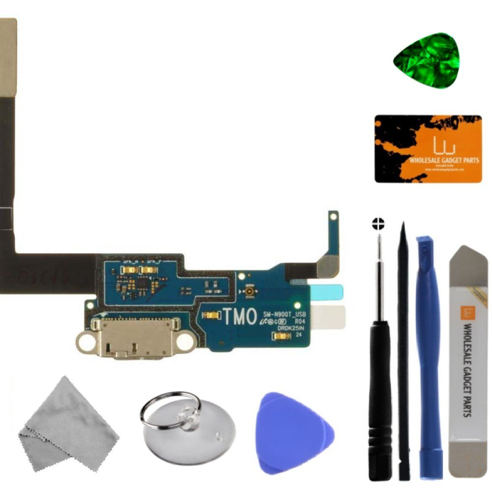 Charge Port (with Flex Cable) for Samsung SM-N900T Galaxy Note III (T-Mobile) with Tool Kit by Wholesale Gadget Parts