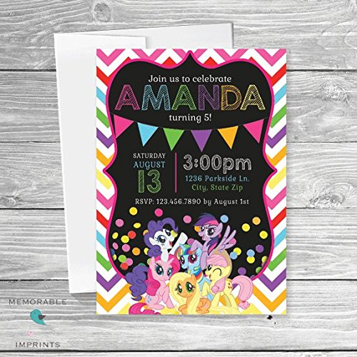 Amazon my little pony birthday invitations girls birthday my little pony birthday invitations girls birthday invitation birthday party invitations beach invitations filmwisefo