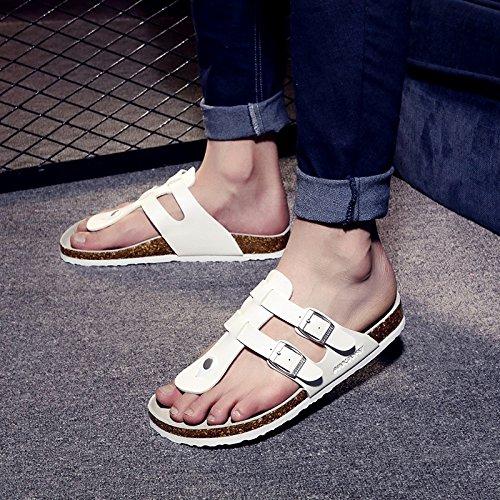 Fankou Männer Sind im Sommer Kühl und Student Lounge Hausschuhe Hausschuhe Hausschuhe Frauen Paare Beach Schuhe für Frauen Weiß 44 J e63bda