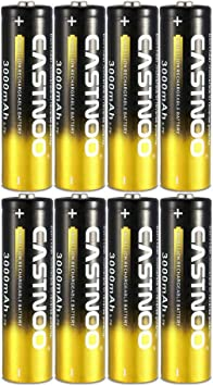 8 Pack 3000mAh 3.7V Rechargeable Lithium Ion 18650-Battery for LED Flashlights Toys