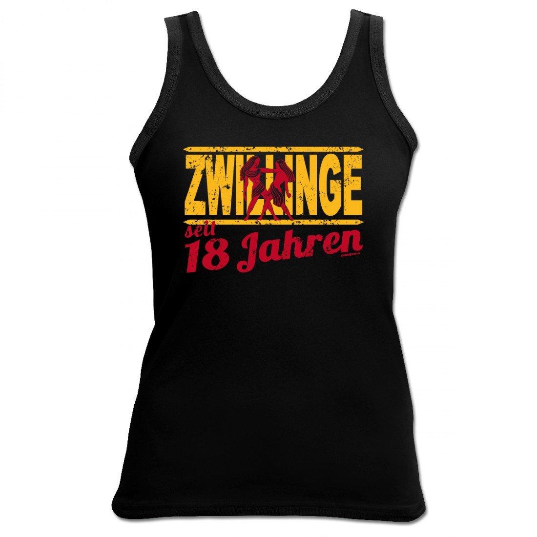 Zwillinge 18 Jahre Damen Top Shirt 18 Geschenk Schenken Humor Geburtstag
