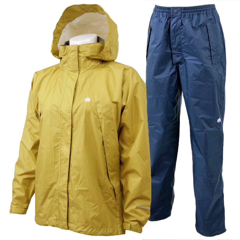 Canadian East(カナディアンイースト) Rain Wear Lady's [レインウェア レディース] (上下セット) CEW8011S B07281NM86 Medium|MSNV マスタード/ネイビー(予約販売) MSNV マスタード/ネイビー(予約販売) Medium