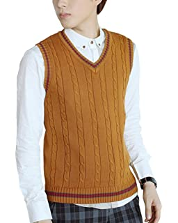 Shengwan Little Boys Knitted Sweater Vest V Neck Sleeveless Knitwear Jumpers Tank Tops