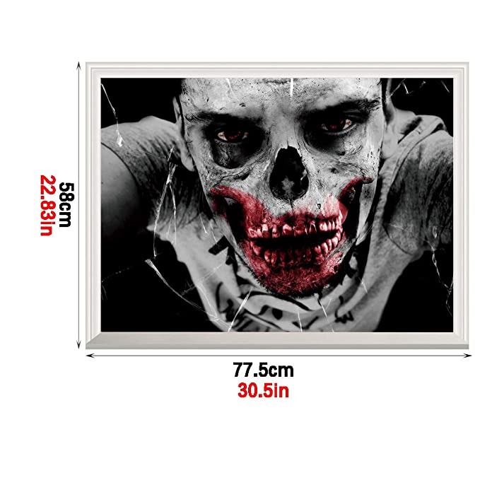 Vinilo Decorativo De Halloween,3D Horror Zombie Adhesivo ...