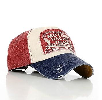 Sun Hat Gorra de Estilo Retro, de Tipo Snapback, Aspecto gastado, Color Rojo: Amazon.es: Juguetes y juegos