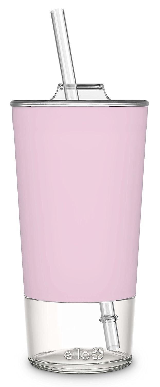 Ello Tidal Glass Tumbler with Straw, 20 oz