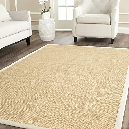 Safavieh Natural Fiber Collection NF441K Hand Woven Maize and Wheat Sisal Area Rug (8' x 10')