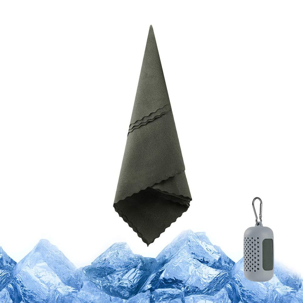 LAMA K/ühlendes Schnelltrocknendes Handtuch Handt/ücher mit Silikonh/ülle 90x30cm