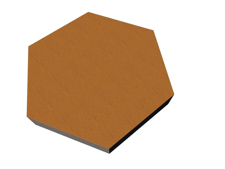 PolySound Schallschutzwand & Breitbandabsorber ECO Hexagon , 200mm - Farbe: dunkelbraun Stä rke: 3cm FSA0262000305HEXS-S