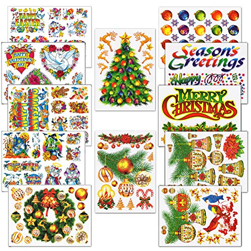 136 Christmas and Holiday Wall Sticker Decals