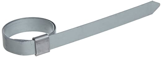 BAND-IT JS2439 Junior 3//8 Wide x 0.025 Thick 201 Stainless Steel Smooth I.D Clamp 1 Diameter 100 Per Box 1 Diameter