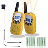 Amazon Price History for:Walkie Talkies for Kids, Rechargeable Long Range Kids Walkie Talkies, with Rechargeable Batteries and Charger, 2 Way Radio With Flashlight 22 Channel, Kids Toys Walkie Talkies, 2 pack (Yellow)