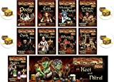 BUNDLE of 10 Red Dragon Inn Character Expansion Decks plus 4 Treasure Chest Buttons
