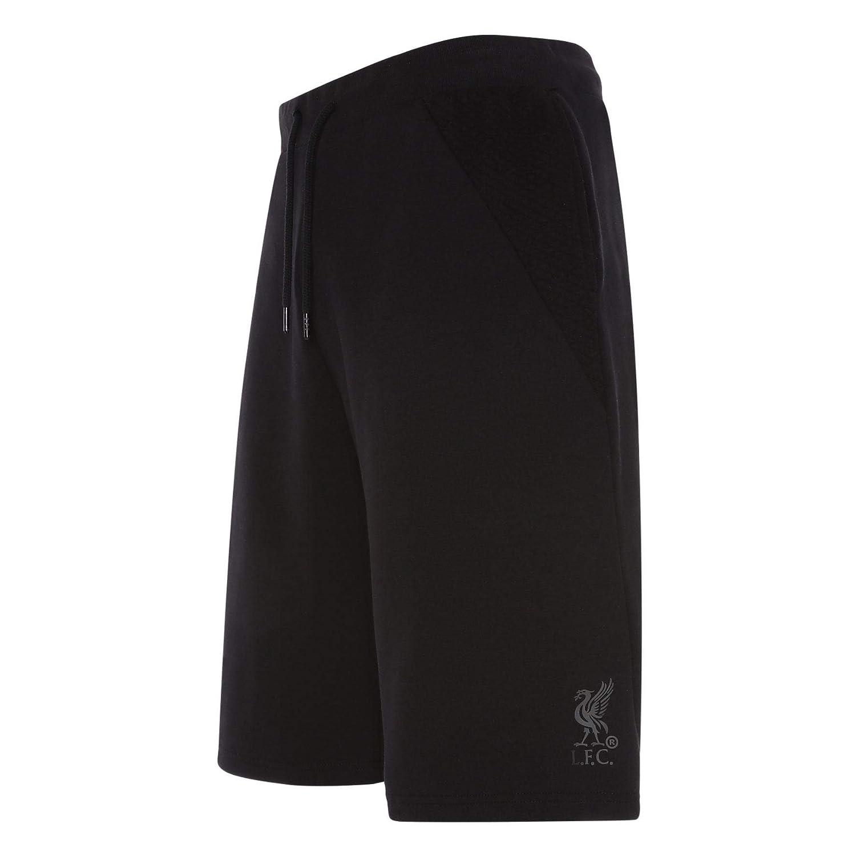 Liverpool FC Shorts de Chandal Hombre Negros LFC Oficial: Amazon ...