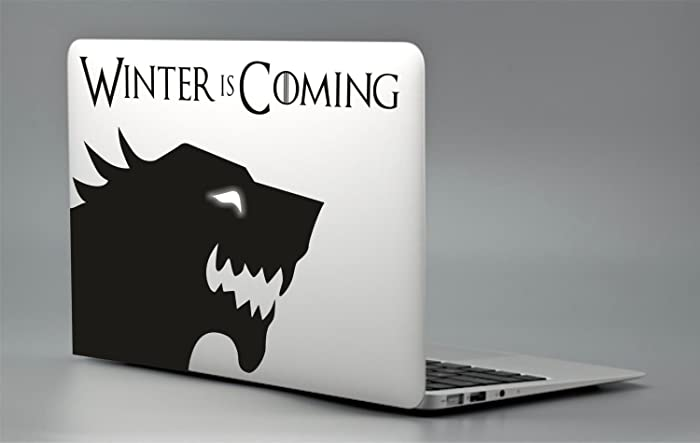 Game of thrones stark sticker decal apple macbook pro air laptop