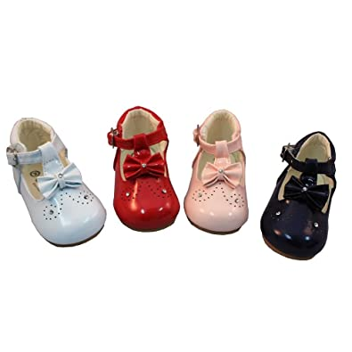 aa409c2fd Mellow Be Sevva Poppy Baby Infant Toddler Patent Hard Sole First Walking  Shoe. Available in Sizes UK, 1-6 (Euro 17-22) Colours Red, White, ...