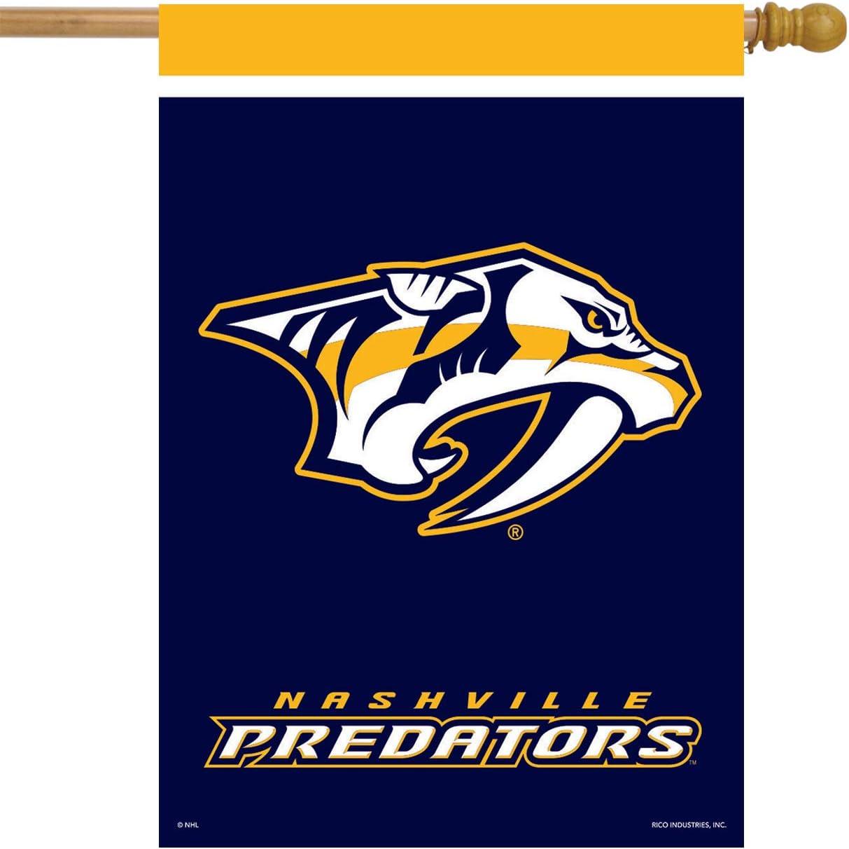 "Nashville Predators House Flag Hockey Licensed 28"" x 40"""