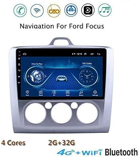 Android 8.1 del Coche de Radio y navegación GPS, Pantalla de TV estéreo 9 Pantalla táctil para Ford Focus 2006-2014, con el Control del Volante Manos Libres Bluetooth para Llamadas Dab E.: