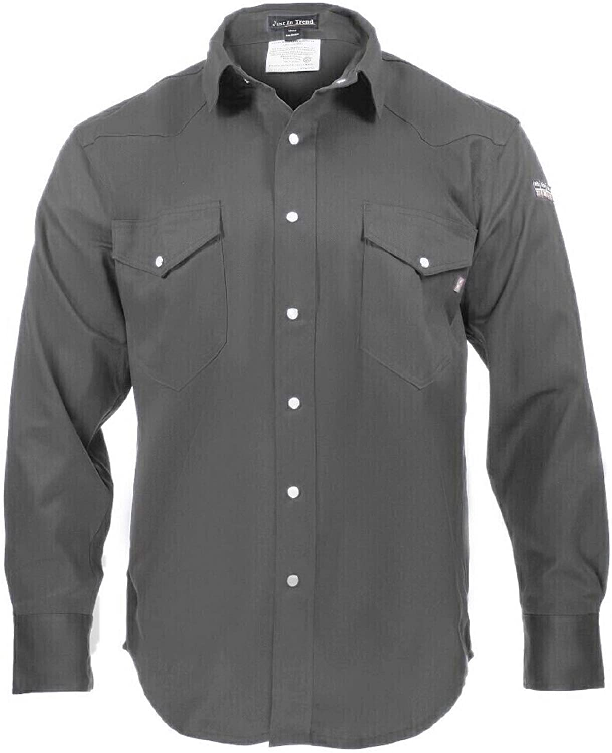 Flame Resistant FR Shirt - 100% C - Light Weight: Clothing