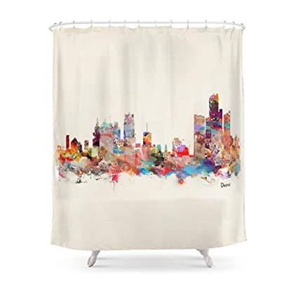 Amazon Sukuraceci Bathroom Detroit Michigan Shower Curtain 72