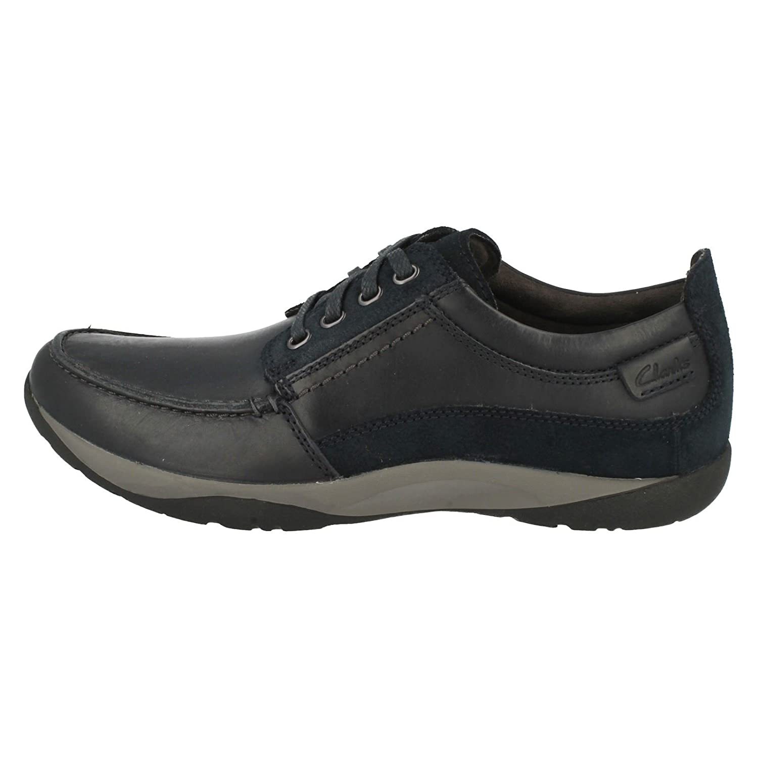 Clarks Route Walk Leather Shoes In Brown  Amazon.co.uk  Shoes   Bags 3bc65cc1f