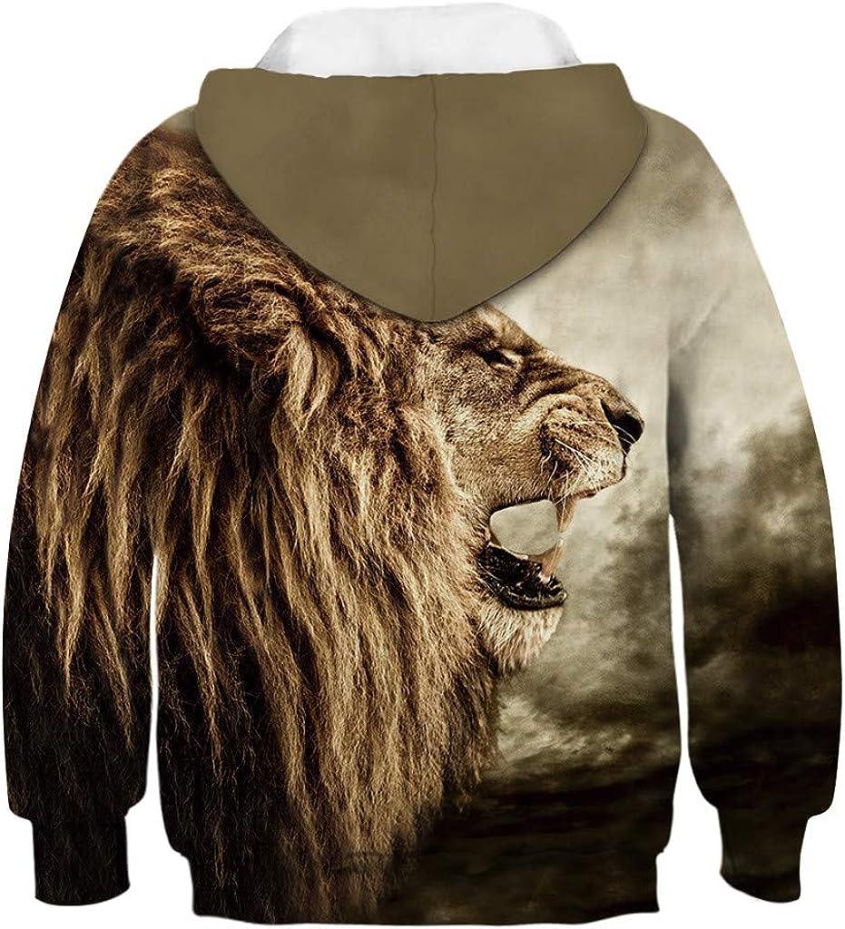 sunnymi 4-13 Jahre Sweatshirt Teen Kinder M/ädchen Jungen Galaxy Fleece Cartoon Tasche Pullover Hoodie