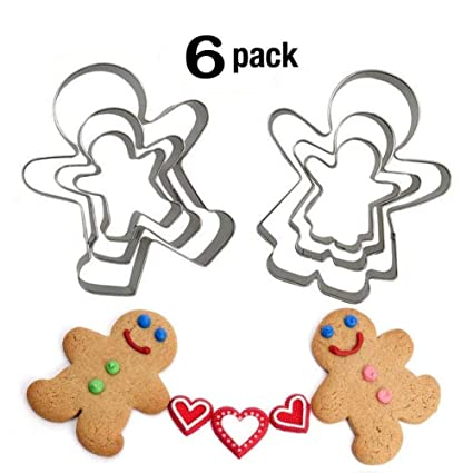 Amazon Com Mity Rain 6pcs Gingerbread Man Cookie Cutter Funny Boy