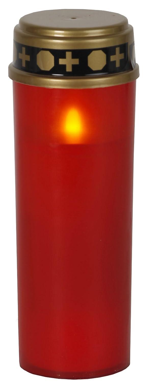 LED-Grablicht 'SERENE' flackernd rot ca. 21x7 cm Best Season