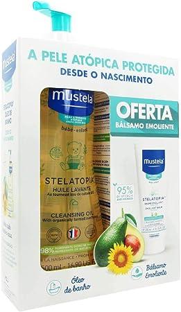 Mustela Pack Stelatopia Aceite De Baño 500ml + Stelatopia Bálsamo Emoliente 200ml: Amazon.es: Belleza