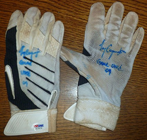 Tony Gwynn Jr 2009 Signed Game Used Batting Glove Pair COA Padres Auto 6 - PSA/DNA Certified - MLB Autographed Game Used Gloves