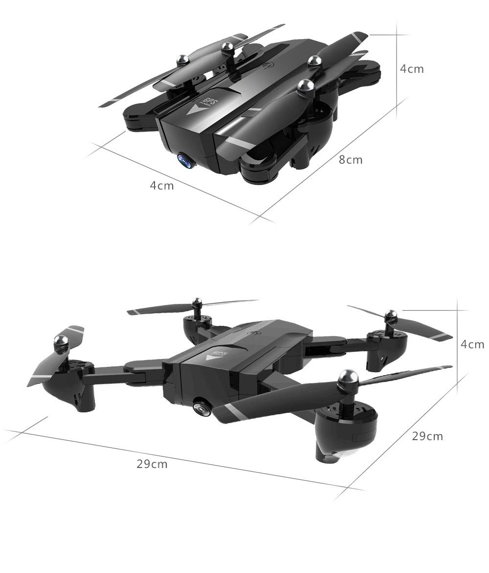 Lovewe SG900 RC Foldable Quadcopter 2.4GHz WIFI FPV GPS Fixed Point Drone for Kids and Beginners With 720P/1080P HD Camera, One Key Return (720P) by Lovewe_Drone (Image #5)