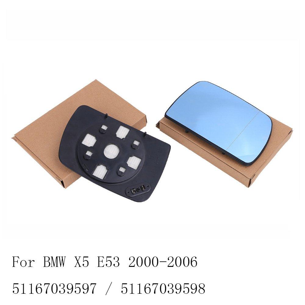 Ricoy - Par de espejos retrovisores para X5 E53 2000 - 2006, color azul: Amazon.es: Coche y moto
