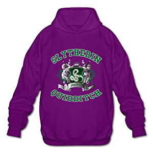NUBIA Men's Harry Slytherin Quidditch Potter Classic Hooded Purple XL