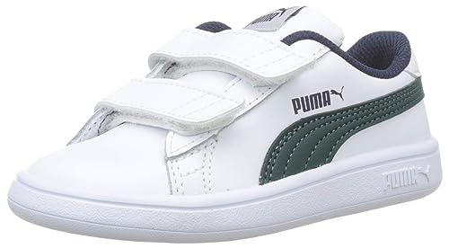 PUMA Smash V2 LV Inf, Scarpe da Ginnastica Basse Unisex – Bambini