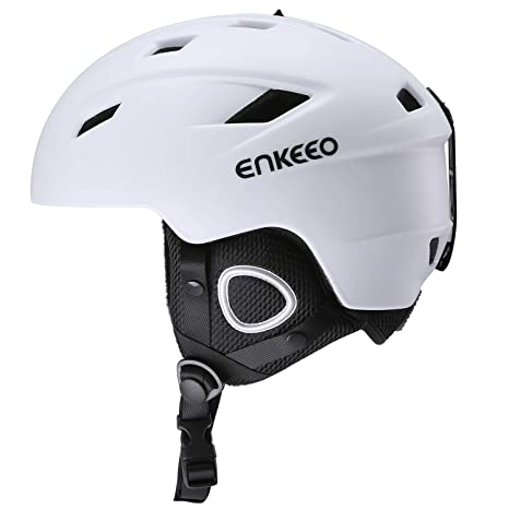 enkeeo casco sci  ENKEEO Casco da Sci 2 in 1 con Fodera e Paraorecchie Staccabile ...