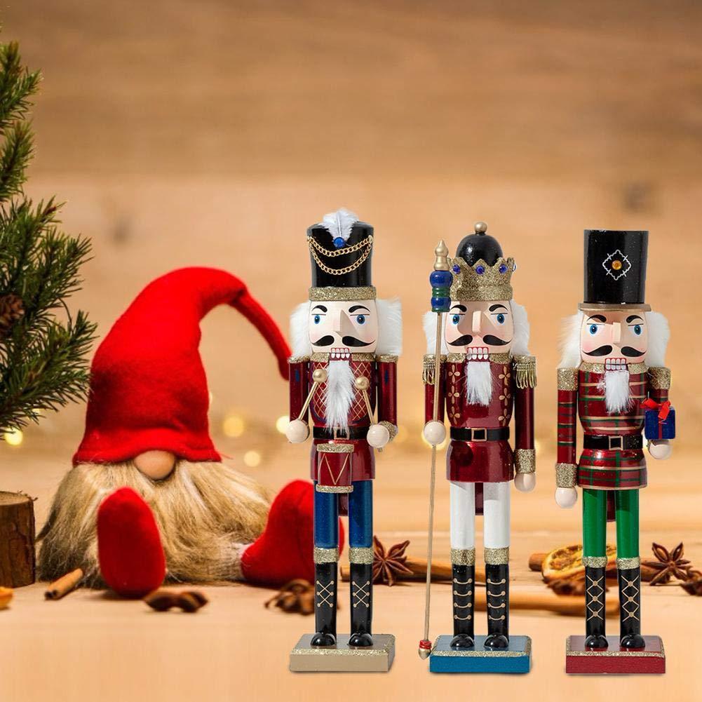 Decorazioni Natalizie per Schiaccianoci,38CM//50CM Soldato//Batterista//Re per Schiaccianoci di Natale di Grandi Dimensioni Ornamenti in Legno Regali Giocattoli per Camera Bambini Decorazioni per Casa