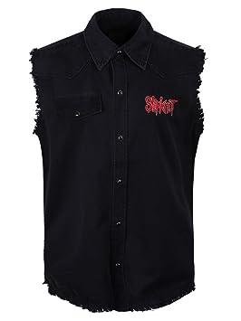 SLIPKNOT CREST Camisa De Trabajo Sin Mangas / Work Shirt XL: Amazon.es: Música
