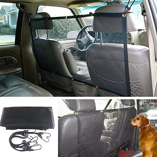 RES&DH Pet Dog Car Net Barrier Backseat Mesh For Vehicle,Keep Pets Off The Front Seat Fit Cars/Vans/SUV's/Trucks(115X62CM)