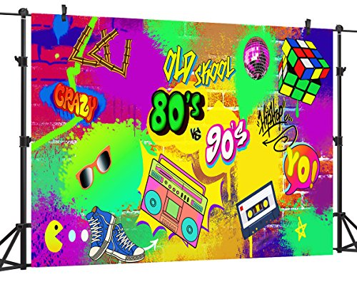 OUYIDA 9X6FT Seamless Hip Hop Graffiti Pictorial cloth photography Background Computer-Printed Vinyl Backdrop PCK07A by OUYIDA (Image #3)