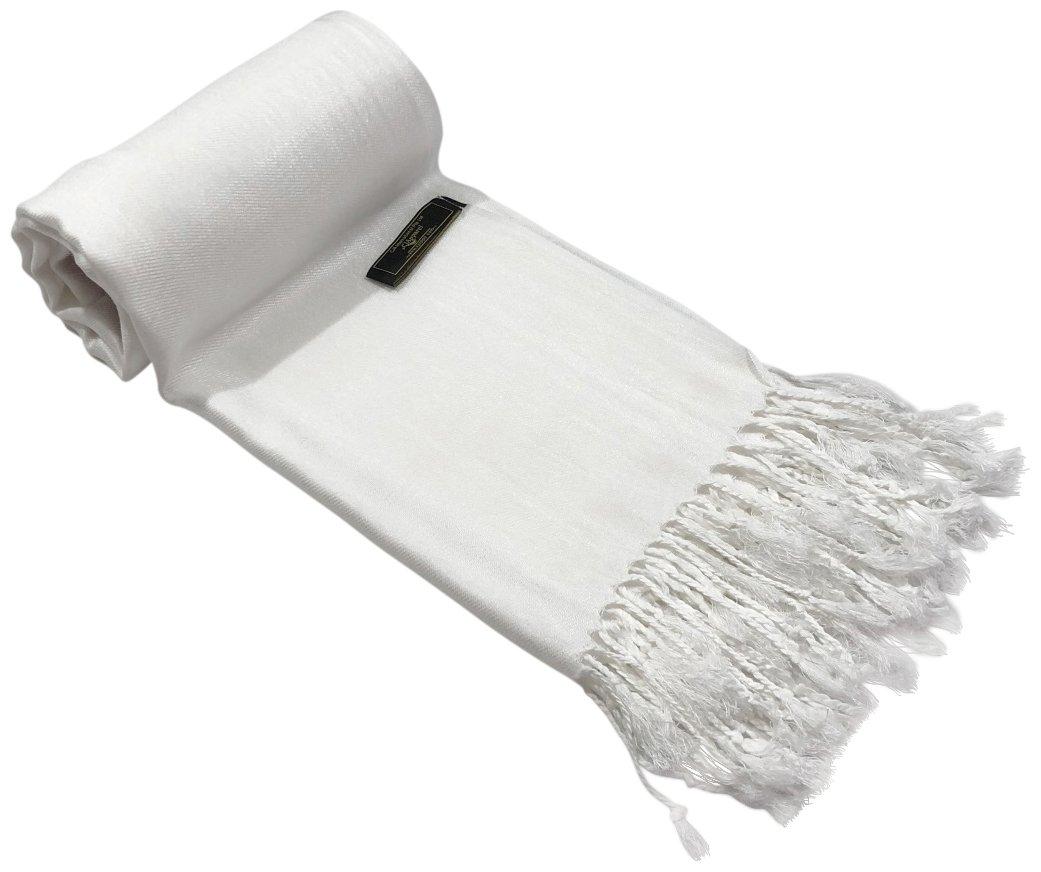 White Solid Color Design Shawl Scarf Wrap Stole Throw Pashmina CJ ApparelNEW
